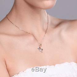0.80 Ct Heart Shape Rose Rose Quartz White Diamond 10K Rose Gold Pendant
