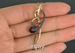 $1,299 Levian 14K Rose Gold Chocolate Quartz Rhodolite Garnet Pendant Necklace