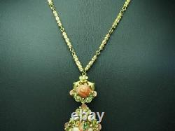 14kt 585 Yellow Gold Chain & 18kt 750 Pendant with Brilliant & Rose