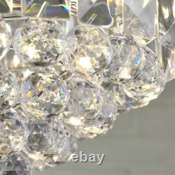 3 Light Chandelier PendantCHROME, CLEAR ShadeHanging Ceiling Feature Lamp Bulb