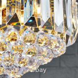 6 Light Chandelier Pendant BRASS & CLEAR Shade Hanging Ceiling Feature Lamp Bulb