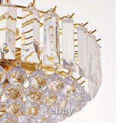 6 Light Chandelier PendantBRASS & CLEAR ShadeHanging Ceiling Feature Lamp Bulb