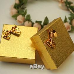 8mm Pink Rose Quartz 14K Solid Yellow Gold Handmade Pendant Thanksgiving Sale