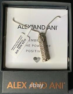 ALEX AND ANI Rose Quartz Gemstone Pendant Necklace (MSRP $238)