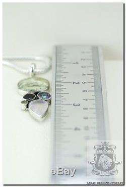 Aaa Ocean Jasper Rose Quartz Mystic Topaz Peridot 925 Solid Silver Pendant
