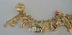 Aharm Bracelet 37 Gram with 30 Pendant Made from 585 750 333 Gold