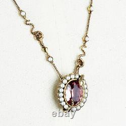 Alexander McQueen Rose Crystal Serpent Pendant Necklace