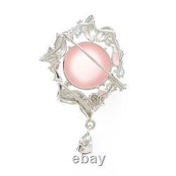 Authentic K18WG K14WG Leaf Star Rose Quartz Pendant #260-003-808-4454