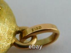 Beautiful Vintage / Antque 18ct Gold & Rose Quartz Pendant