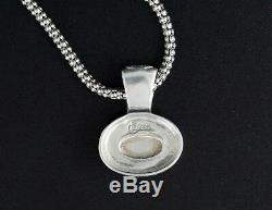 Carolyn Pollack Relios Inc Sterling Silver Rose Oval Quartz Pendant Necklace