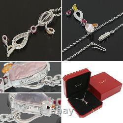 Cartier Delices Rose Quartz Multi Gemstone Diamond Necklace K18WG