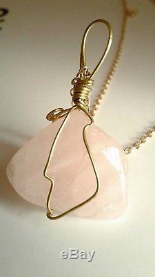 Ceremonial Rose Quartz Pendant Amulet Used To Honor Queen Mother Starlight Angel