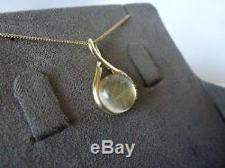 Clogau Gold, 9ct Yellow & Rose Gold Rutilated Quartz Pendant, 22 Chain RRP £850