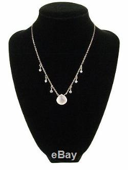 Custom 14K 1/20 Gold Chain Pendant Necklace Faceted Rose Quartz Topaz 15