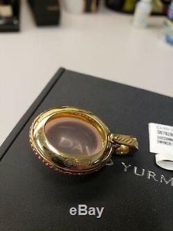 DAVID YURMAN Rose Quartz Oval Enhancer Pendant in ALL 18k w Pink Sapphire