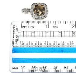 David Yurman Albion Diamond Citrine Sterling Silver Cable Pendant