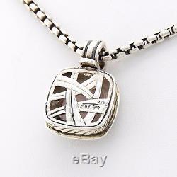 David Yurman Albion Rose Quartz Diamonds 14k 925 ladies fine pendant necklace