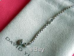 David Yurman Gorgeous Ssilver Rose Quartz Enhancer Pendant Necklace 16.5