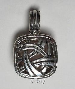 David Yurman Rose Quartz and Diamond Albion Enhancer Pendant