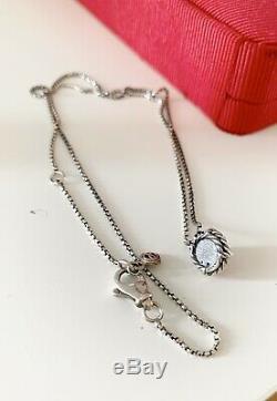 David Yurman Sterling Silver Chatelaine Pink Quartz Pendant Necklace