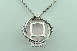 David Yurman Sterling Silver Infinity 11mm Rose Quartz Pendant (18/16 3/4)