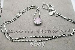 David Yurman Sterling Silver With Rose Quartz Chatelaine pendant 18 Necklace