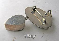 Echo Of The Dreamer Peridot Labradorite Rose Quartz Sterling Pin Brooch Pendant