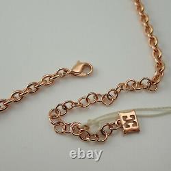 Escada NIB Rose Gold Plated Swarovski Crystal Heart 20 Necklace MSRP $275