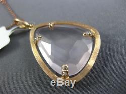 Estate Large 11.47ct Diamond & Pink Quartz 14kt Rose Gold 3d By The Yard Pendant