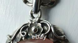 Exquisite Artisan Unique, Silver Necklace with Rose Quartz Pendant