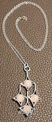 Exquisite Finnish Kultaseppa Salovaara Silver & Rose Quartz Pendant