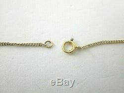 Fancy Cut Rose Quartz Necklace Pendant 14K Yellow Gold Curb Link Chain 18