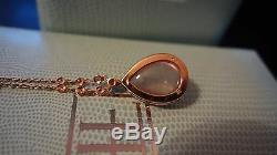 Favero 18k Rose Gold 0.30 Ctw Diamonds Rose Quartz Pendant Necklace