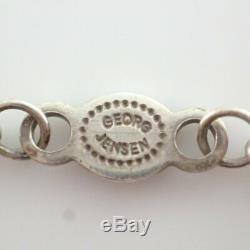 GEORG JENSEN 453 Silver 925 Rose Quartz DROPLET PENDANT Necklace
