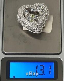 Genuine Christian Lacroix 925 Silver Brooch/Pendant Topaz, Periddot, Rose Quartz