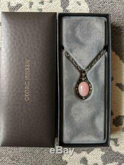 Georg Jensen ACCESSORY 1995 Reprint Rose Quartz Ear Pendant Ladies New