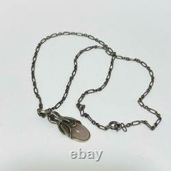 Georg Jensen Auth Silver 2011 HERITAGE Rose quartz Necklace Used from Japan