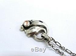 Georg Jensen Chain Necklace Pendant 1999 ROSE QUARTZ Silver 925 38160366200 P