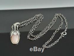 Georg Jensen Heritage Collection 2011 Rose Quartz Silver Pendant 45cm Necklace
