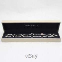 Georg Jensen Sphere Rose Quartz SV925 Pendant Necklace With Box