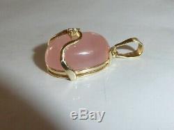 Gold 333 Yellow Gold 8K Pendant Rose Quartz Gold Jewellery Gift Idea 1441
