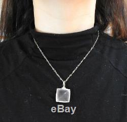 H. Stern Cobblestone Rose Quartz Diamond 18k Gold Pendant Necklace