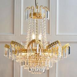 Hanging Ceiling Pendant Light GOLD & GLASS9 Light Chandelier Lamp Bulb Fitting