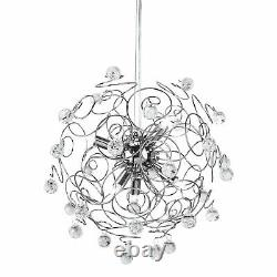 Interiors By Premier Crystal And Chrome Pendant Light RRP £239.49