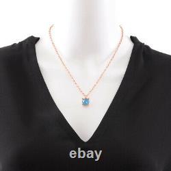 Ippolita Rose Gold Plate 925 Sterling Stone Quartz Pendant Necklace NEW $495