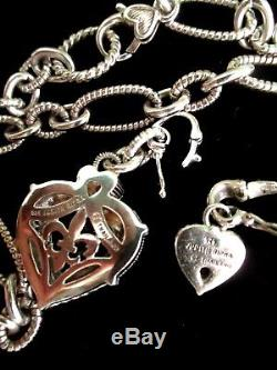 Judith Ripka Rose Quartz Heart Pendant W Small Heart Pendant Ss Necklace Jrboxes