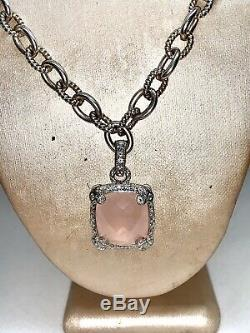 Judith ripka necklace With Pink Pendant 18 Inch Necklace