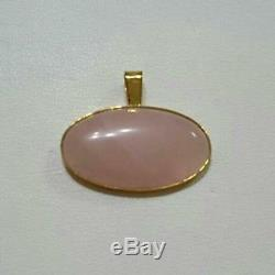 K18 rose quartz pendant top products
