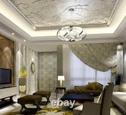 LED ceiling hanging crystal pendant lamp chandelier neutral white sphere light