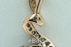 LEVIAN 14K Rose Gold Smoky Quartz Chocolate and Vanilla Diamond Pendant (18)